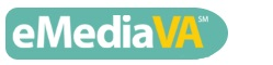 Link to eMediaVA - Button with eMediaVA Logo