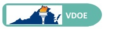 Link to Virginia Department of Education - Button with VDOE Logo